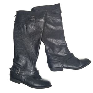 Soda Black Riding Boots Faux Leather 7.5